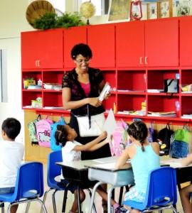 Teaching Oak Crest Private School students