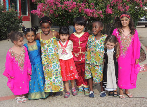 Schoolchildren from around the world